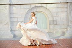 Wedding Gown. Utah wedding photography. AlliChelle Photography. Modest wedding dress. Blush ballgown.