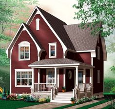 House Plan 64959 |  Plan with 1322 Sq. Ft., 3 Bedrooms, 2 Bathrooms