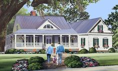 Cottage Country Farmhouse Traditional Elevation of Plan 86344