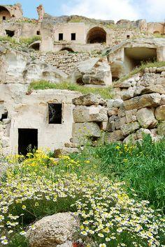 Cavusin, Cappadocia, Turkey Turkish Architecture, Turkish Delight, Places To See, Mount Rushmore, Exotic, Cappadocia Turkey, Mountains, Cliff, World