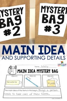 Teaching Main idea and details can be a very tricky concept for students to master. Scaffolded instruction is the key. Here are some main idea and details activities that will help your students learn this important skill. Reading Strategies, Reading Skills, Teaching Reading, Reading Comprehension, Learning, Comprehension Strategies, Guided Reading, Teaching Main Idea, Student Teaching