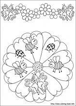 Summer mandala colouring page