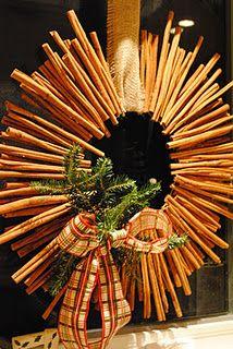 Cinnamon stick wreath...