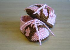 Crochet Baby Saddle Shoes by LizzyBethCrochet on Etsy, $20.00