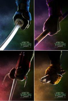 """midtowncomics: """"Four new teaser posters for the Teenage Mutant Ninja Turtles movie. Ninja Turtles Movie, Ninga Turtles, Teenage Ninja Turtles, Gi Joe, Tmnt 2012, Cinema, Movie Posters, Minecraft Houses, Cake Minecraft"""