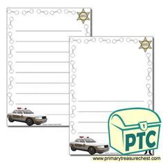 Sheriff's Department Role Play Resources - Primary Treasure Chest Role Play Topics, People Who Help Us, Ourselves Topic, Page Borders, Teaching Activities, Sheriff, Crafts For Kids, Frame, Crafts For Toddlers