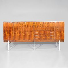Herbert Hirche; Rosewood and Chromed Metal Credenza, c1960.