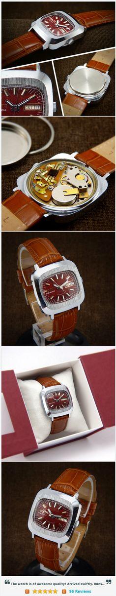 Raketa Fabulous TV Style Chunky First Soviet Quartz Watch From 70s #etsy @bestvintage4you https://www.etsy.com/listing/251746852/