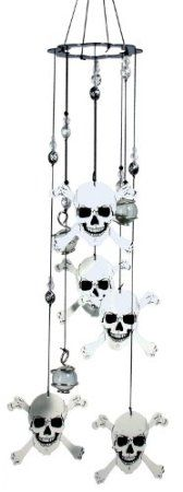 Amazon.com : Spoontiques Skull and Crossbones Wind Chime : Patio, Lawn & Garden