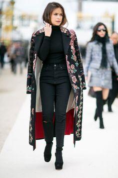 Miroslava Duma - Fall 2016 Paris Fashion Week Street Style Day 8 - March 8, 2016 #pfw
