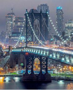 """newyorkcityfeelings: """"Manhattan Bridge by fullmetalphotography """""""