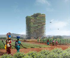 Mashambas Skyscraper - Evolo 2017 winner - tower for africa - Frankowski Lipiński