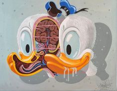 """Street Artist Nychos Dissects Disney in """"Silly Slicesophy"""" 