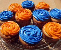 Vanilla Cupcakes with Cream Cheese Frosting. but need to perfect my frosting skills. Goku Birthday, Naruto Birthday, Nerf Birthday Party, Nerf Party, Dragon Birthday, Ball Birthday, Birthday Cupcakes, Graduation Cupcakes, Cupcakes Frozen