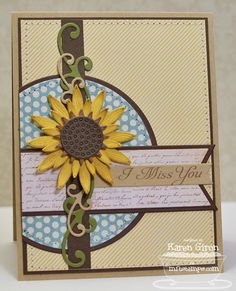 Love this card using the new Die-namics sunflower die!