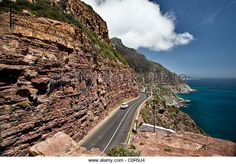 The road that cleaves through the mountain on Chapmans Peak Drive, a favourite for tourists April May, Westerns, Cape, Mountain, Outdoor, Mantle, Outdoors, Cabo, Outdoor Games