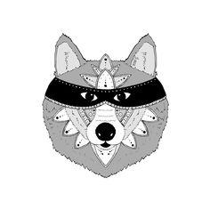 Luna the Wolf by ArtbyKateG on Etsy