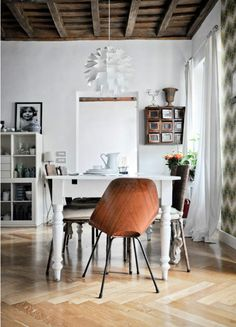Mixing old and new :-) http://www.nest.co.uk/browse/brand/normann/normann-norm-69-lampshade Image via Desire to Inspire.