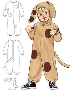Детский новогодний костюм собаки