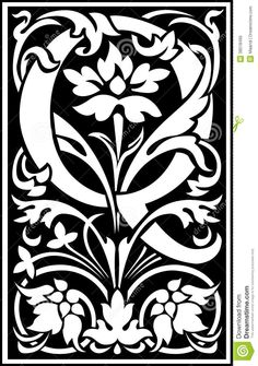 flowers-decorative-letter-q-balck-white-english-alphabet-black-38518495.jpg (915×1300)