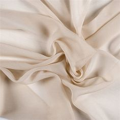 Items similar to Beige Crinkled Silk Chiffon, Fabric By The Yard on Etsy