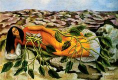 Roots (self portrait) by Frida Kahlo, 1943