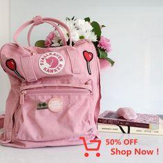 Fjallraven Kanken Pink And Air Blue Backpack
