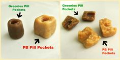 How to Make Homemade Pill Pockets for Your Dog. Pill pockets are a great way to get your dog to take his or her medication. They can get expensive, however, and not every dog will eat pill pockets. Dog Treat Recipes, Dog Food Recipes, Pill Pockets, Online Dog Training, Training Tips, Dog Hacks, Pet Treats, Dog Eating, Homemade Dog Food