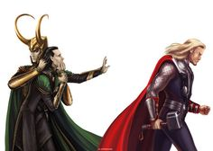 This is exactly how I imagine Loki. He really is a good person/old Loki deep down, but something inside of him comes out and takes control. You can see it too, like when Thor and him are on Stark tower and he sort of 'steps back' and you can see it on his face how scared and disbelieving he is. But then the other side of him takes back control and he stabbs Thor. Thus the never ending battle continues.