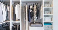 From purging to renovating, check out these tips on how to pull off the perfect, ordered wardrobe on any budget. Built In Wardrobe, Perfect Wardrobe, Wardrobes, Closet, Storage, Interior, Design, Budget, Home Decor
