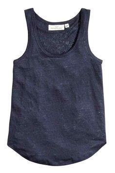 Canotta in jersey di lino H&M