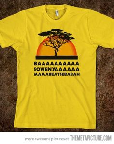 Haha Evan (my husband) will randomly yell this out for no reason what so ever and I don't know why, but it is one if the funniest cutest things and I love it. It cracks me up every single time! He is just hilarious and he seriously needs this shirt lol