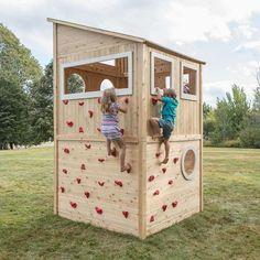 cabane bois enfant grimpaer