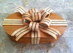 Wood Ribbon Box Cherry Box / Maple + Ebony Ribbon Diy Wood Projects, Woodworking Projects, Projects To Try, Ribbon Box, Box Maker, Bandsaw Box, Casket, Wood Boxes, Grandkids