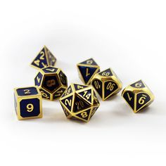 Dice 4 Friends RPG 7 Cube Set Jeu DND HD Dice Blue Flakes Poly Top Tabletop