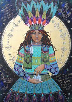 Sacred Medicine Woman added a new photo. Spirit Art, Illustrations, Illustration Art, Art Visionnaire, Sacred Feminine, Goddess Art, Visionary Art, Sacred Art, Native American Art