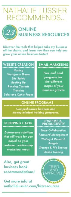 Online Business Resources For Entrepreneurs Nathalie Lussier is a EXCELLENT resource for online marketing