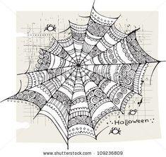 Zentangled spider web