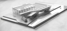 Architectural scale model, Klaipeda, Lithuania by Archmodel.eu , via Behance