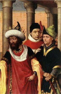 Group of Men - Rogier van der Weyden.  c.1460.  Oil on panel.  50.1 x 31.7 cm.  Musees Royaux des Beaux-Arts, Brussels, Belgium.
