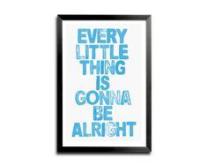 Music Lyric Art | Bob Marley Music Lyric Typography Digital Art Print - Every Little ...