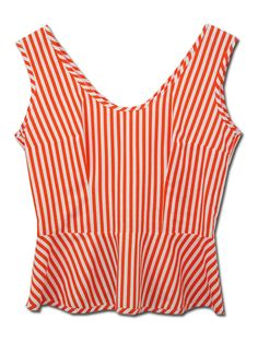Candy Stripe Candy Stripes, Peplum, Clothes, Tops, Women, Fashion, Outfits, Moda, Clothing