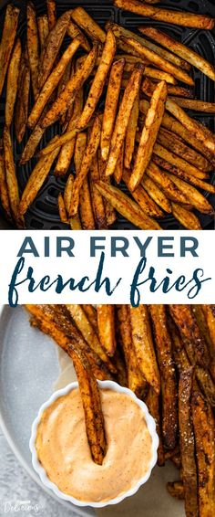Learn how to make the BEST super crispy air fryer french fries in under 20 minutes! Air fryer french fries are so delicious and simple to make. French Fries At Home, Air Fry French Fries, Making French Fries, Crispy French Fries, French Fries Recipe, Homemade French Fries, Air Fryer Dinner Recipes, Air Fryer Recipes, French Frie Seasoning