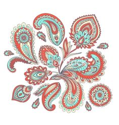 Beautiful indian paisley ornament vector tattoo swirl by transia on VectorStock®