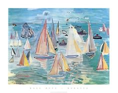 Regatta Posters by Raoul Dufy at AllPosters.com