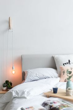 Hanging night light for reading in the evenings