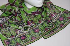TALBOTS Silk / Cotton  Scarf 13 x 19 Long  by ScarvesLinensLegends