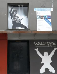 The Wall of Fame featuring Phil Lynott in Temple Bar, Dublin