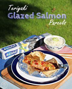 Teriyaki Glazed Salmon Parcels - Fab Food 4 All Recipe Using Salmon, Quick Salmon Recipes, Teriyaki Glazed Salmon, Easy Meals, Cooking Recipes, Chicken, Food, Chef Recipes, Essen