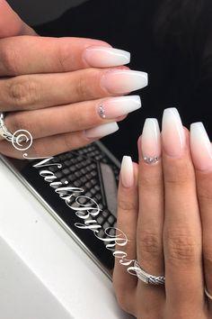 Acrylic ombré. Acrylic nails baby bomber. Swarovski crystals nails pretty nails